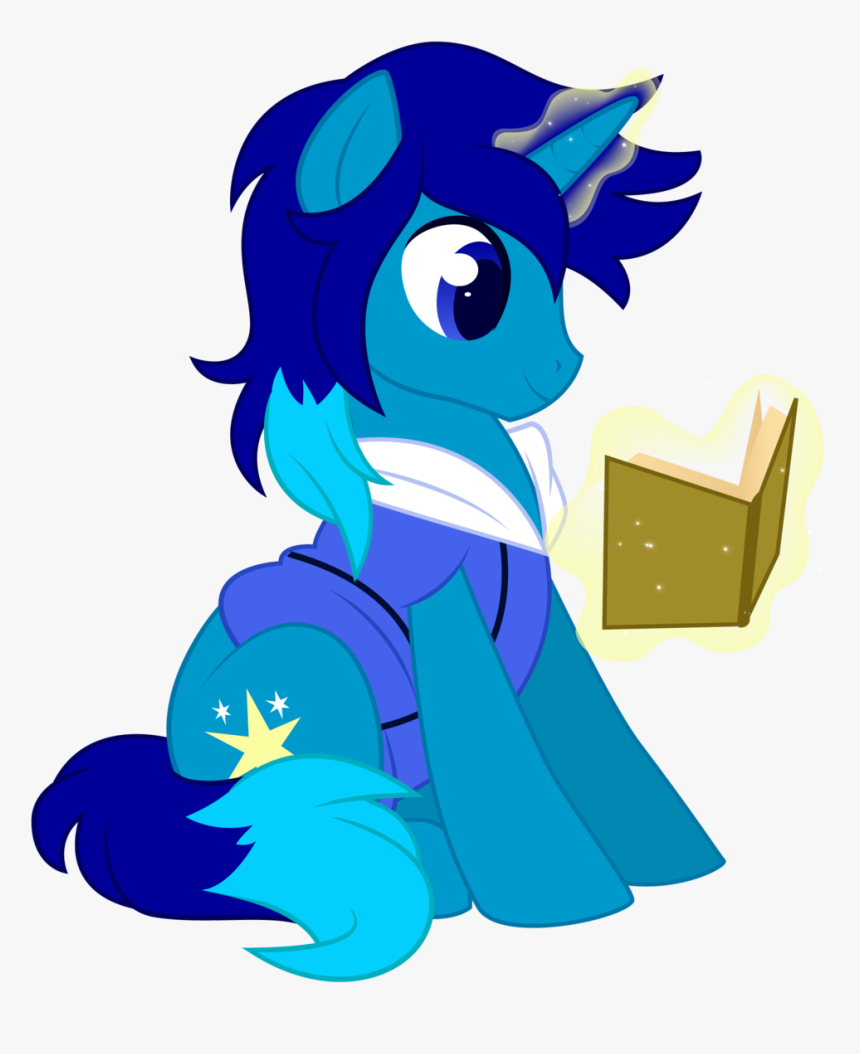 Xnightmelody, Blue, Book, Commission, Magic, Male - My Little Pony Oc Unicorn, HD Png Download, Free Download