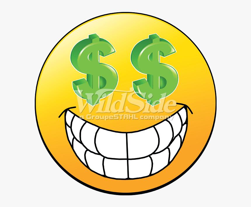 Emoji $$ Eyes - Emoji Smile Teeth Face, HD Png Download, Free Download
