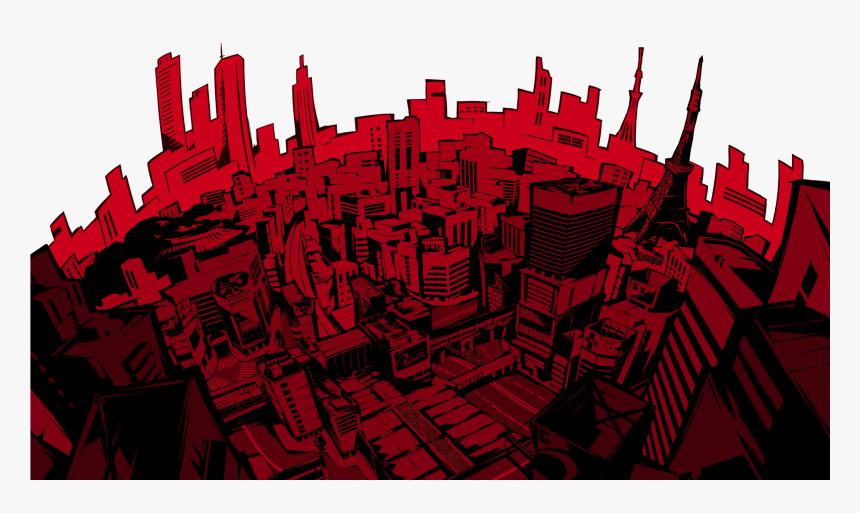Persona 5 City Png Png Download Transparent Png Persona 5 Background City Png Download Kindpng