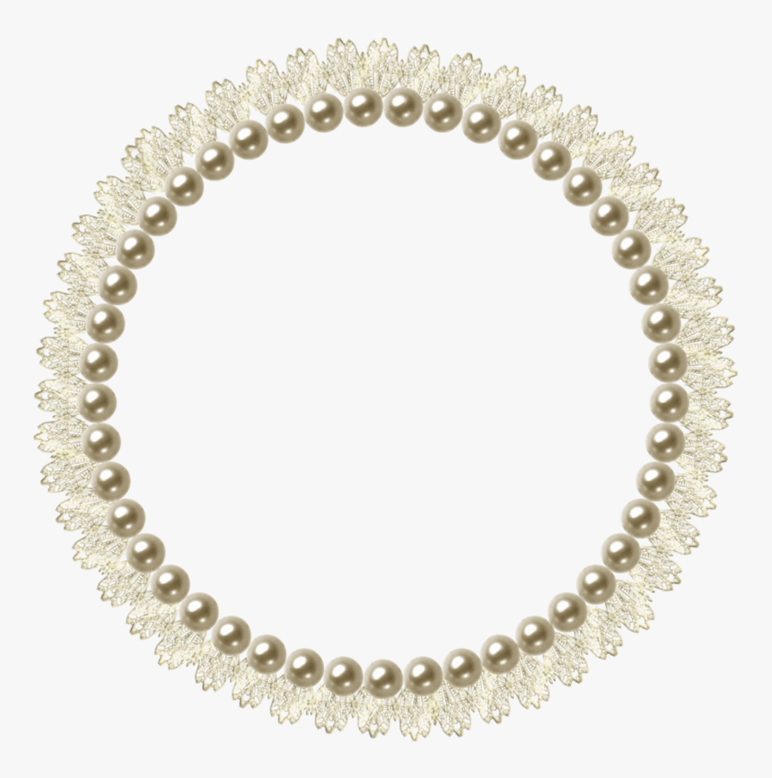 Pearl Picture Frame - Circle Transparent Pearls Png, Png Download, Free Download