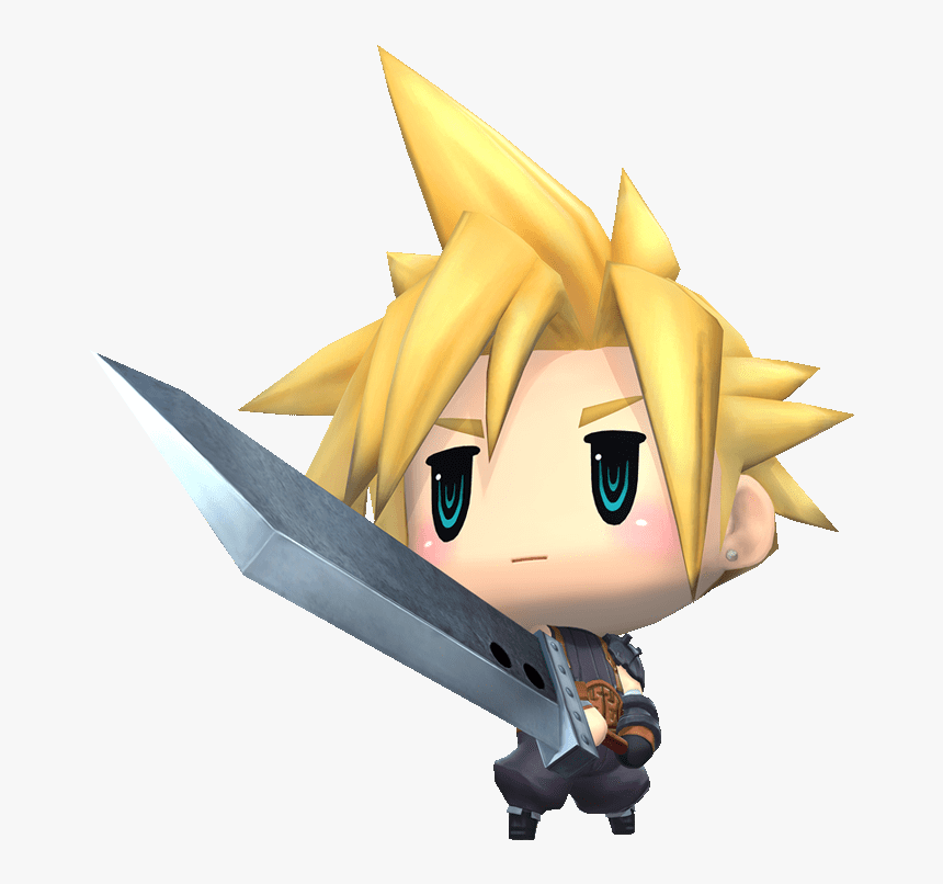 Cloud Strife World Of Final Fantasy, HD Png Download, Free Download