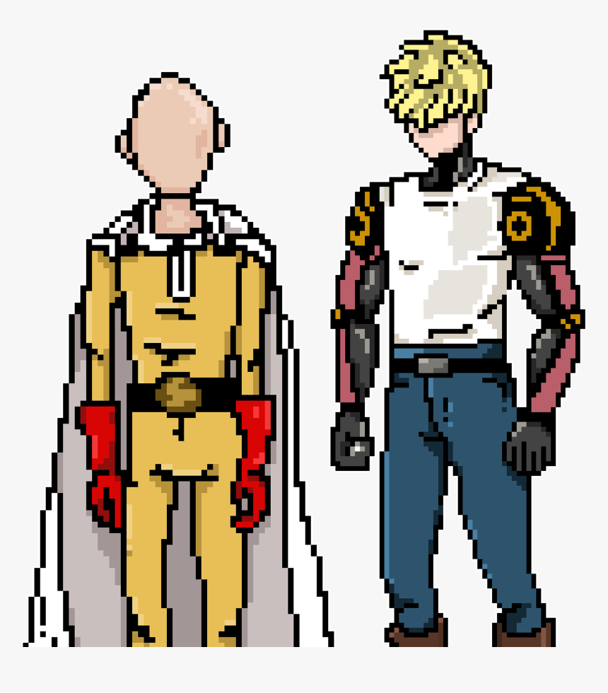 One Punch Man - One Punch Man Saitama Pixel Art, HD Png Download, Free Download