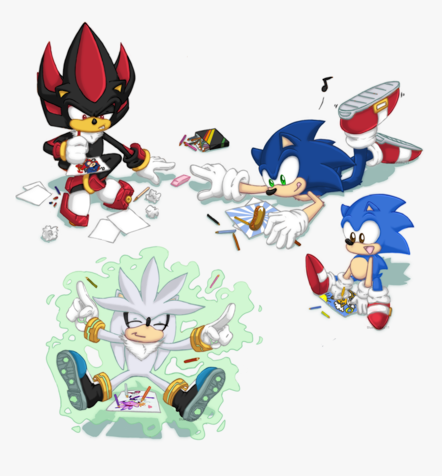 Transparent Classic Sonic Png Sonic The Hedgehog Drawings Png