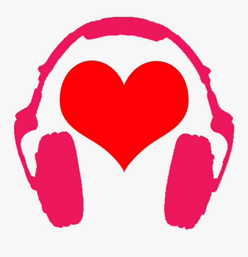 Anime Heart Png - Heart And Headphones Png, Transparent Png, Free Download