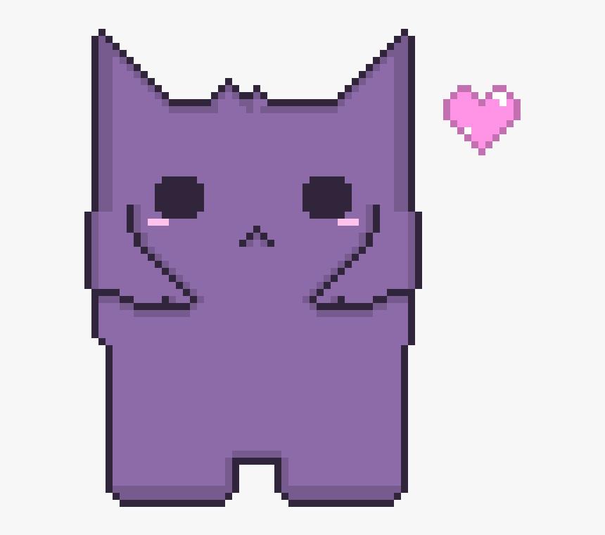 Kawaii Gengar <3 - Pixel Heart, HD Png Download, Free Download