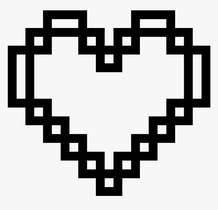 Pixel Heart Icon - White Pixel Heart Png, Transparent Png, Free Download