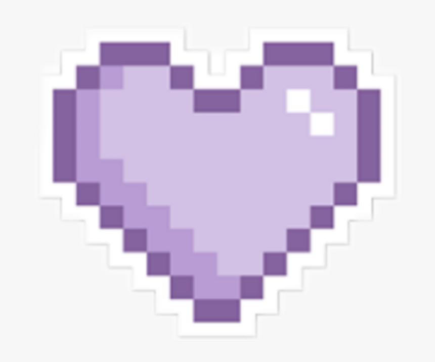 #heart #purple #pixel #tumblr #aesthetic - Pixel Art Icon Heart, HD Png Download, Free Download
