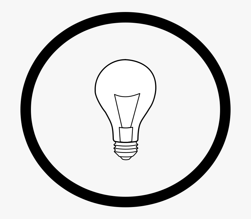 How To Set Use Light Bulb In Circle Svg Vector - Drawing, HD Png Download, Free Download