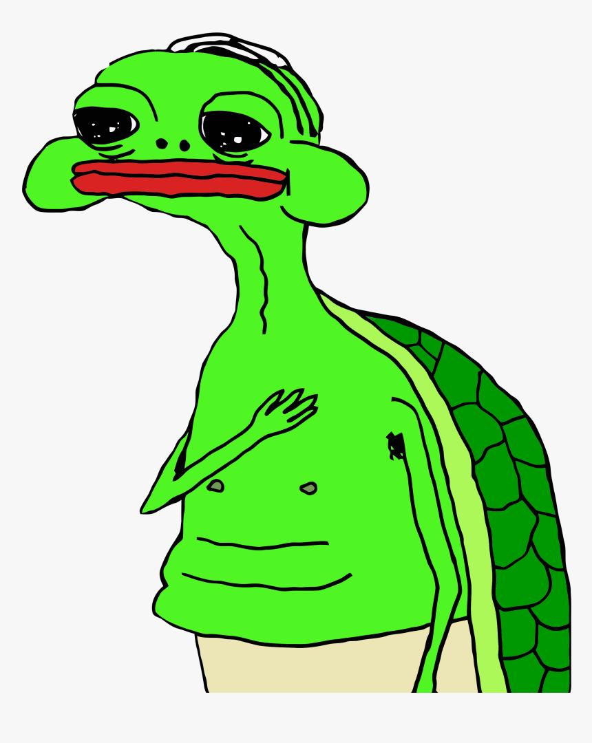 Pepe Sad Png - Oh My Gawd Turtle Meme, Transparent Png, Free Download
