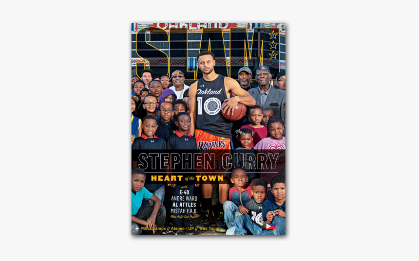 Steph Curry Slam Magazine, HD Png Download, Free Download