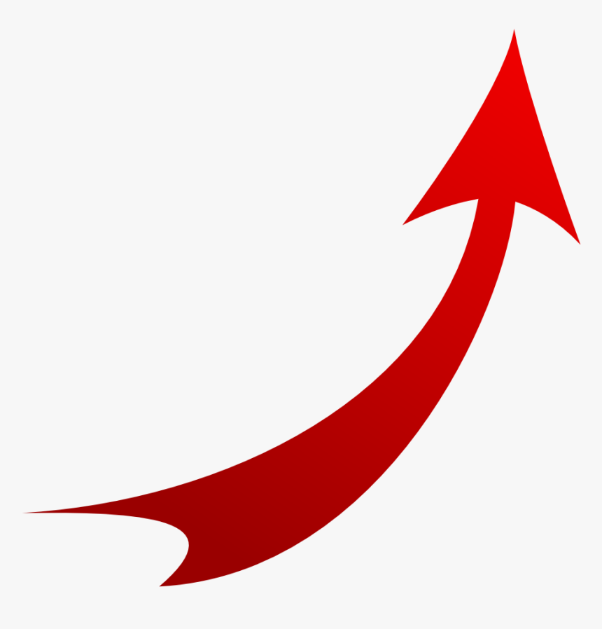 Red Upward Curved Arrow, HD Png Download, Free Download