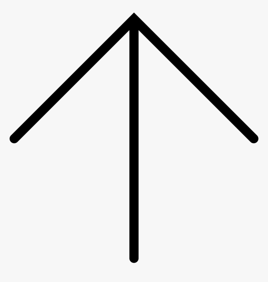 Thin Up Arrow - Thin Arrow Icon Png, Transparent Png, Free Download