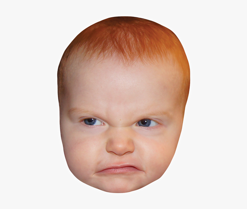 Infant Human Head Child Face Angry Baby Face Png Transparent Png Kindpng