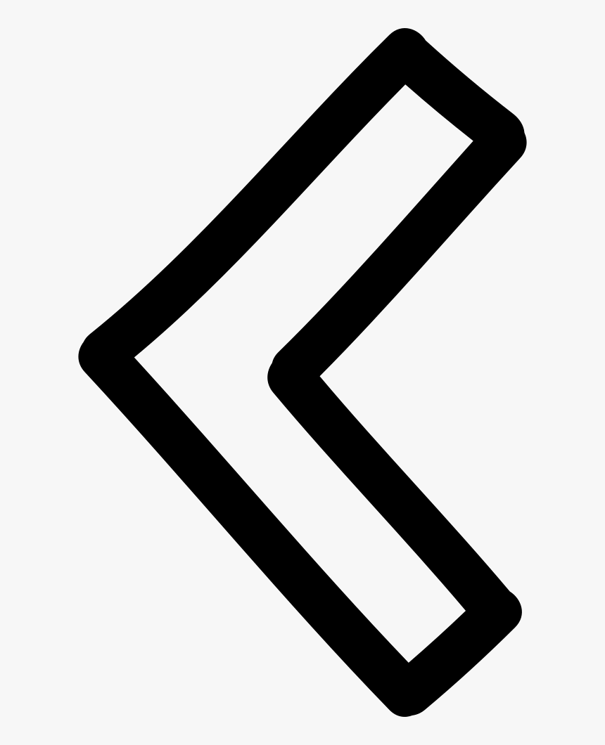 Left Arrow Hand Drawn Outline - Left Arrow Hand Drawn, HD Png Download, Free Download