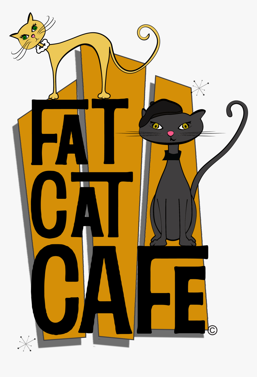 Transparent Kitty Face Png - Fat Cat Cat Restaurant, Png Download, Free Download