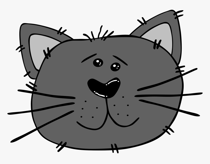 Cartoon Cats Face Png, Transparent Png, Free Download