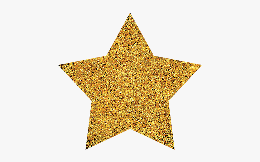 Gold Stars Png - Transparent Background Gold Glitter Star Png, Png Download, Free Download