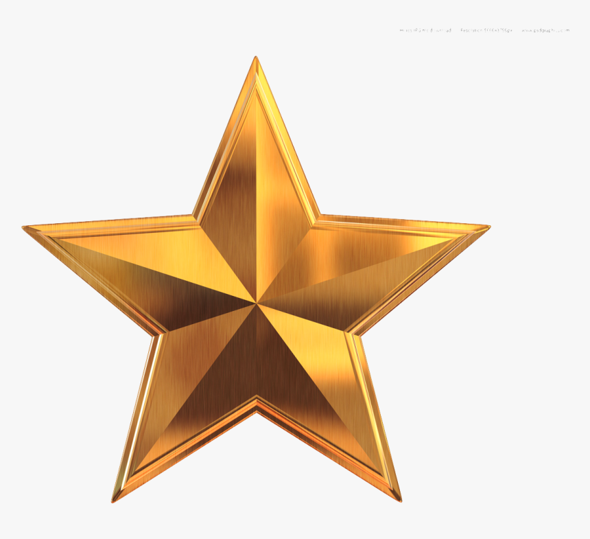 Gold Star Clip Art - Gold Star Clipart, HD Png Download, Free Download