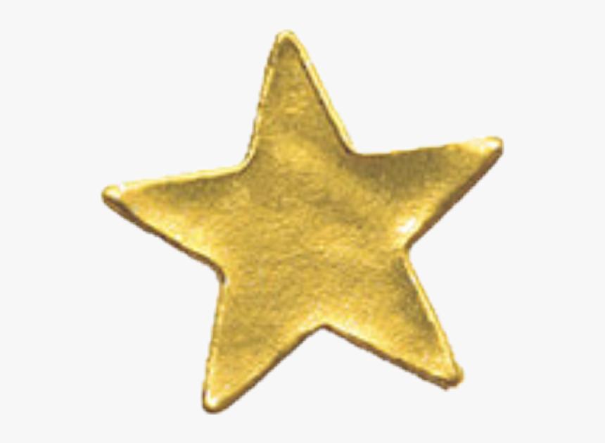 Gold Star Sticker Png, Transparent Png, Free Download