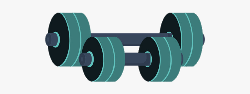 Dumbbell Gym Equipment Clipart Cartoon Hd Png Download Kindpng