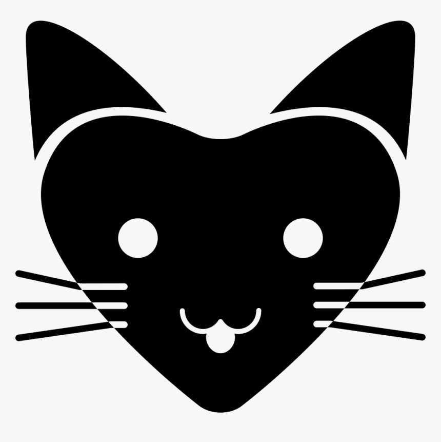 Love Cat With Heart Shaped Face - Corazon Cara De Gato, HD Png Download, Free Download