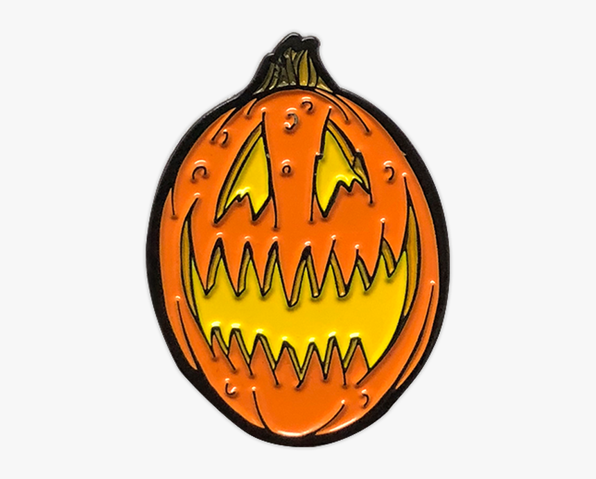 Scary Jack O Lantern Enamel Pin - Jack-o'-lantern, HD Png Download, Free Download