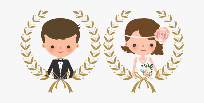 Wedding Couple Png - Wedding Couple Cartoon Png, Transparent Png, Free Download