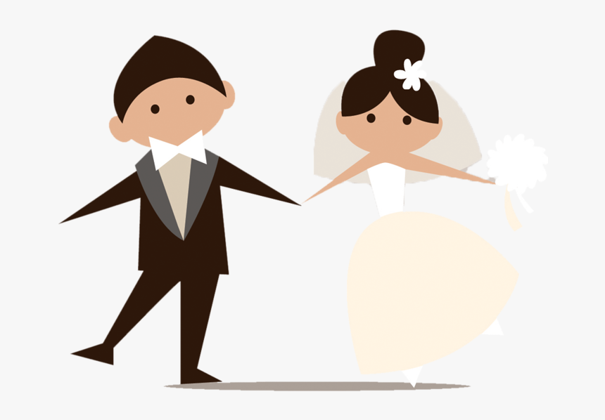 Wedding Clip Art Couple - Married Clipart Png, Transparent Png, Free Download