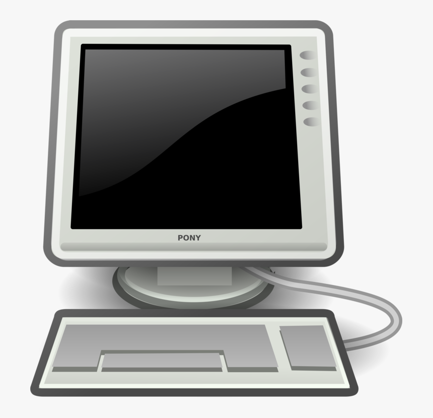 Computer With Black Screen Svg Clip Arts - Computer Clipart Transparent Background, HD Png Download, Free Download
