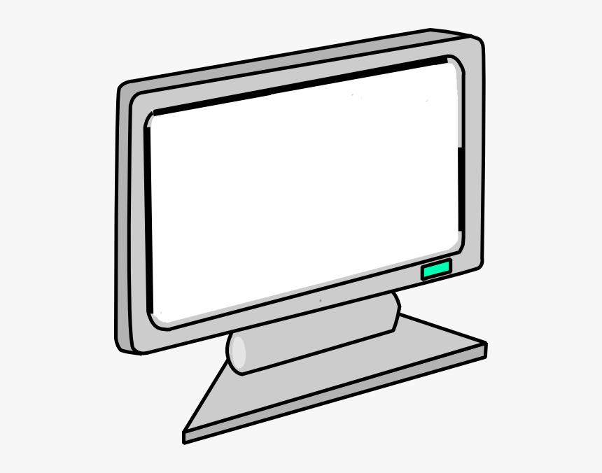 Blank Screen Computer Monitor Svg Clip Arts - Clip Art Computer Monitor, HD Png Download, Free Download