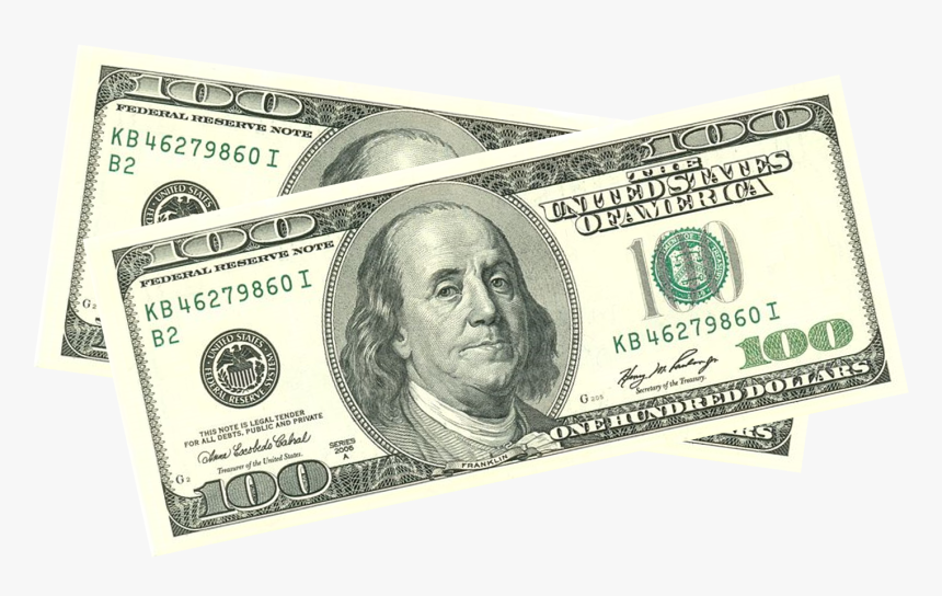 United States One Hundred Dollar Bill Banknote United - Dollar Bill Transparent Background, HD Png Download, Free Download