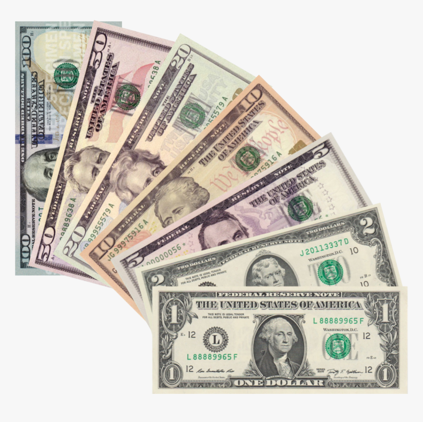 United States One Dollar Bill United States One Hundred - All My Friends Are Dead Money, HD Png Download, Free Download