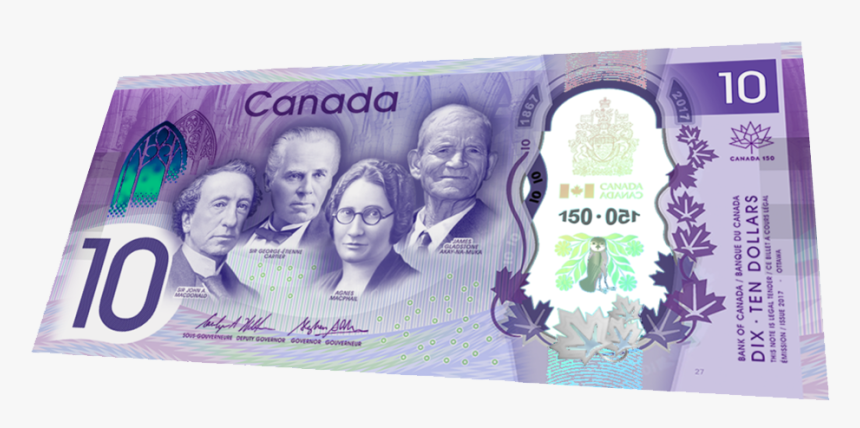 Konami Code Canada 10 Dollar Bill, HD Png Download, Free Download