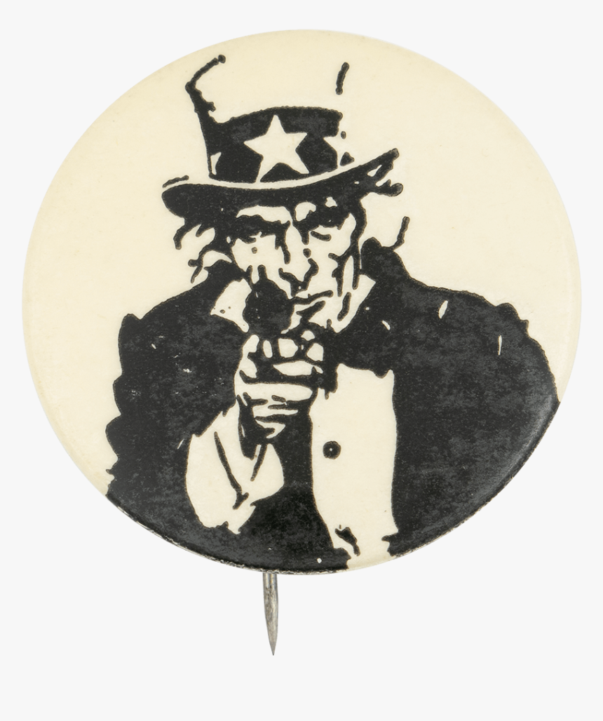 Uncle Sam With A Gun Political Button Museum - You Did For Your Country, HD Png Download, Free Download
