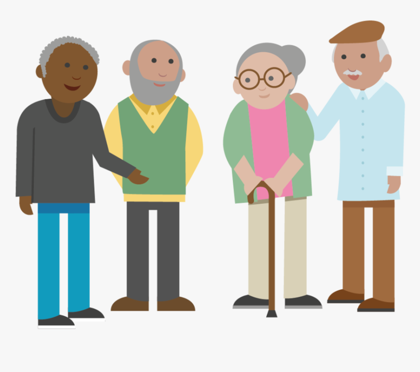 Transparent Older Adults Clipart - Old People Cartoon Png, Png Download, Free Download