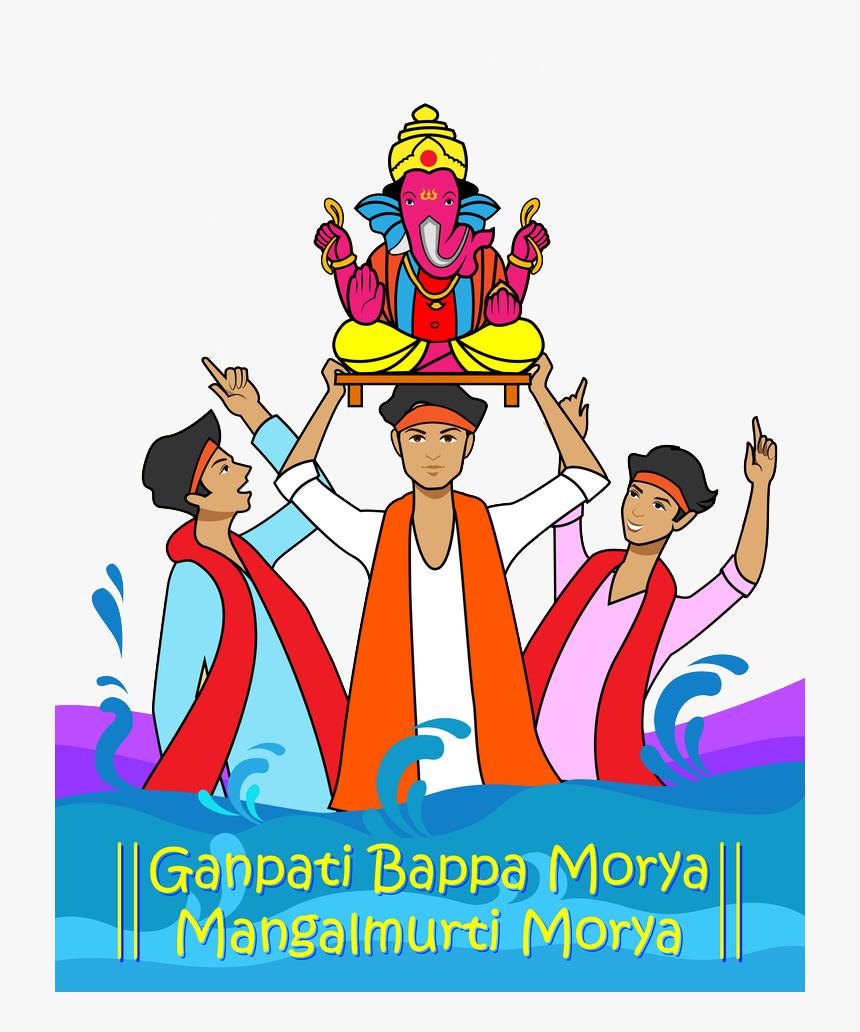 "Wishing You Happiness As Big As Lord Ganesha""s Appetite, - Ganpati Bappa Morya Latest, HD Png Download, Free Download"