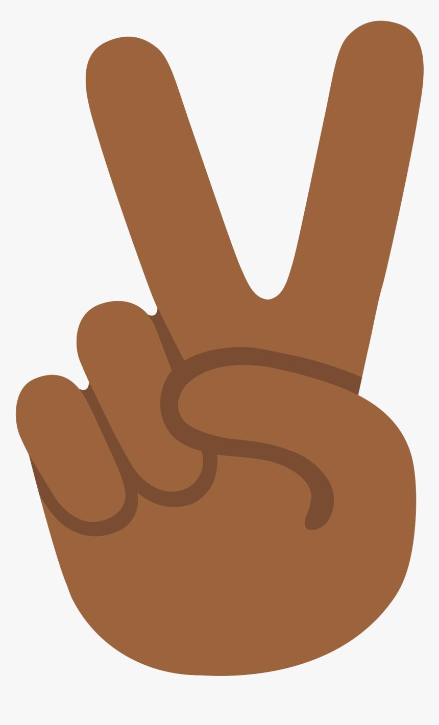 Emoji U270c 1f3fe - Peace Sign Hand Emoji Png, Transparent Png, Free Download