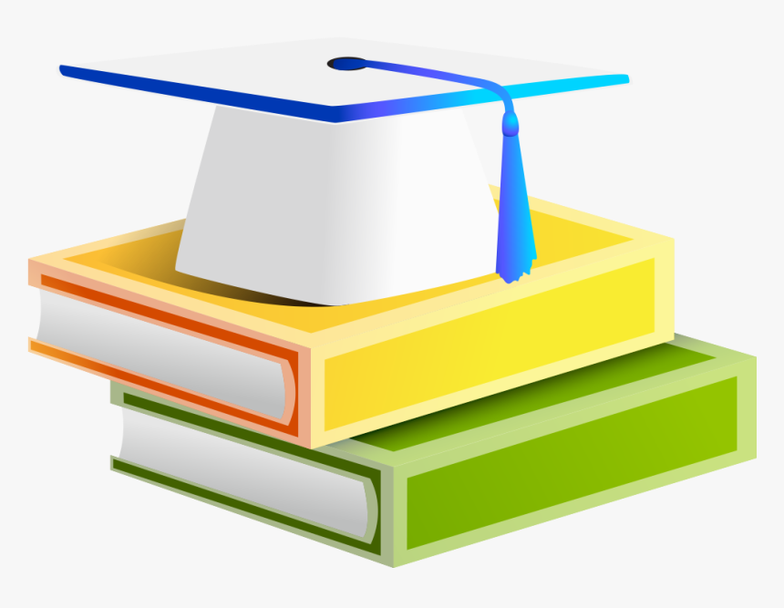 Textbook Clipart Graduation Cap - Book With Degree Clipart, HD Png ...