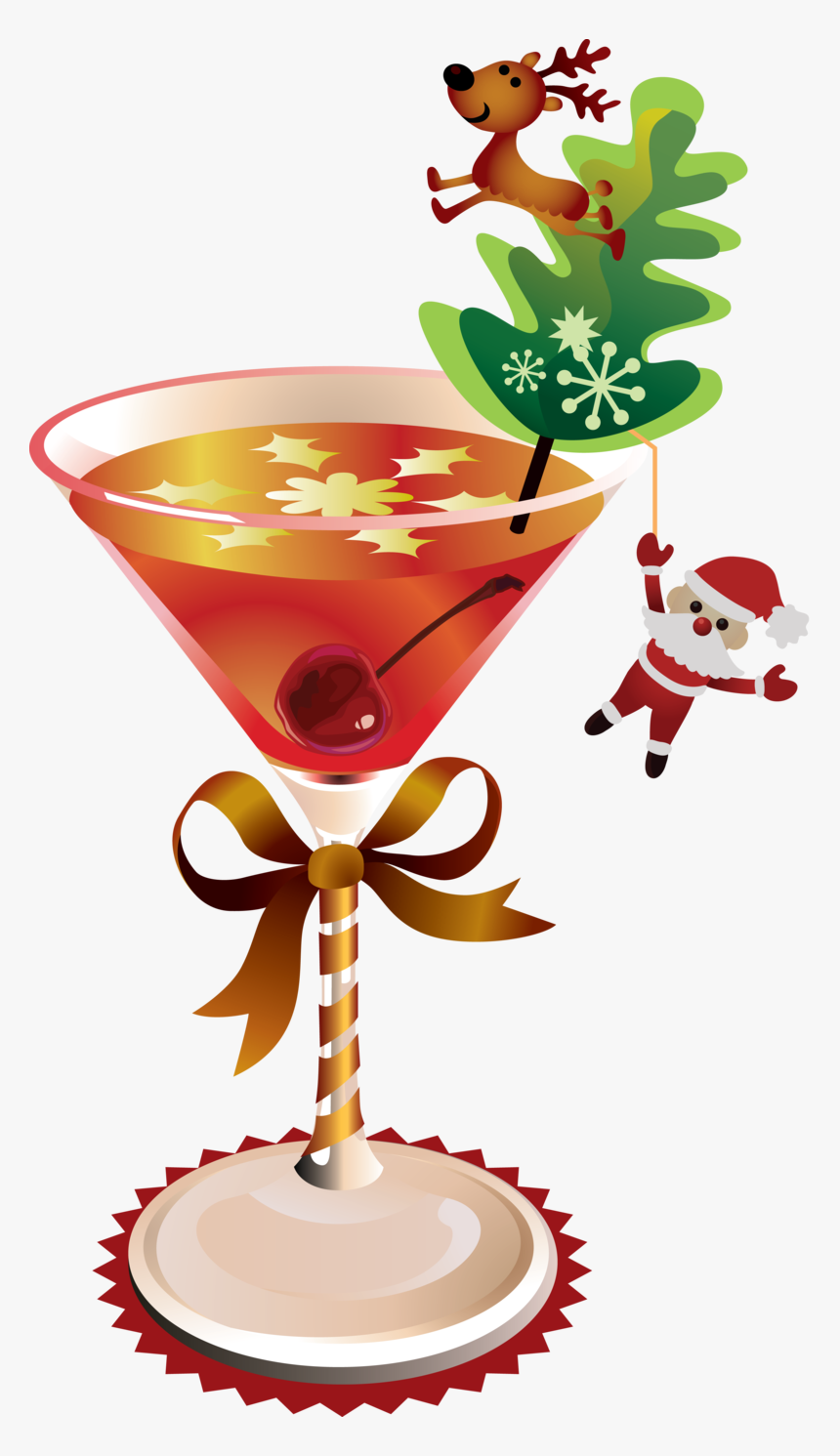 44594 - Christmas Drinks Clipart, HD Png Download, Free Download