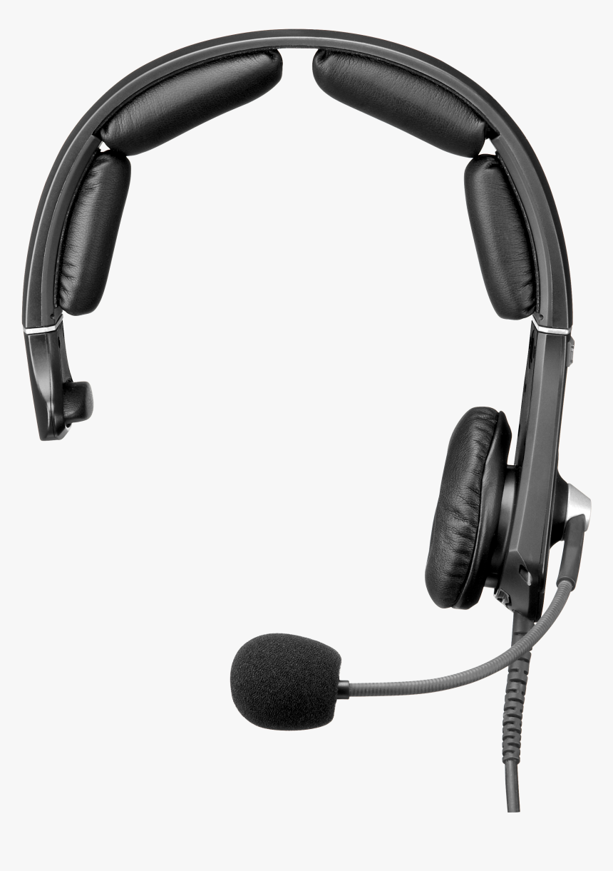 Headphones Xlr Connector Headset Microphone Telex - Headphones With Mic Transparent, HD Png Download, Free Download