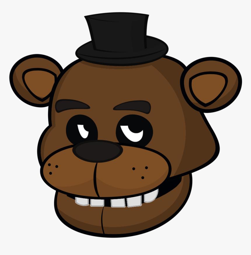 Freddy Fazbear Face Png , Png Download - Freddy Fazbear Head Drawing, Transparent Png, Free Download