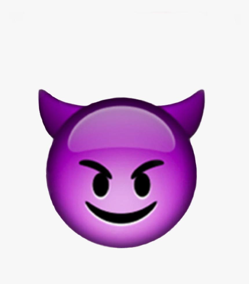 #emoji #iphone #face #devil #demon #emojiiphone #iphoneemoji - Devil Emoji Png, Transparent Png, Free Download