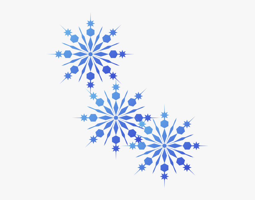 Blue Snowflake Png - Frozen Snowflake Clip Art, Transparent Png, Free Download