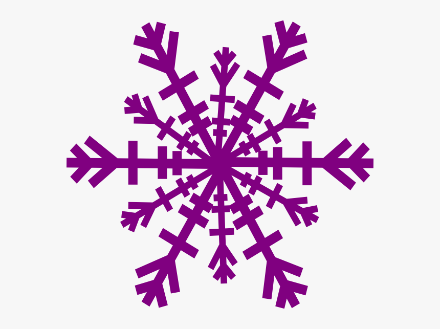 Clipart Snow Flake - Purple Snowflake Clipart, HD Png Download, Free Download