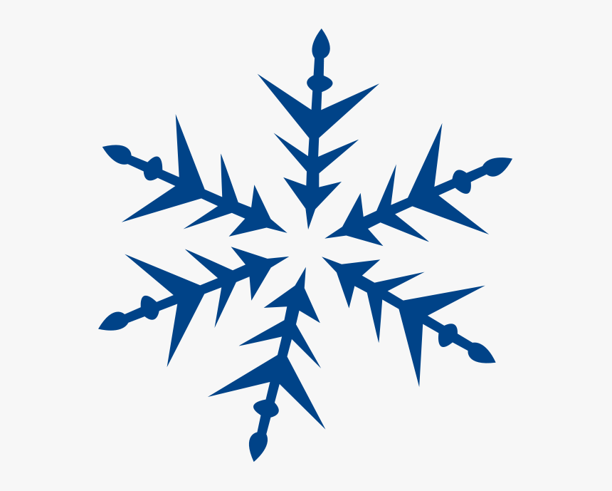 Snowflake Large Blue Spike Weather Snow - Blue Snowflake Clipart Png, Transparent Png, Free Download