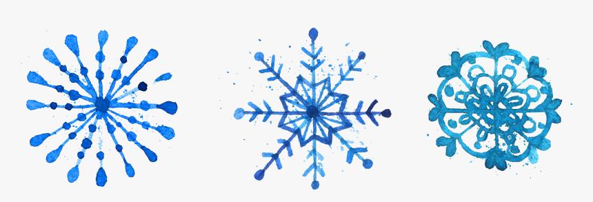 Snowflake Watercolor Painting Euclidean Vector - Christmas Watercolor Snowflake, HD Png Download, Free Download