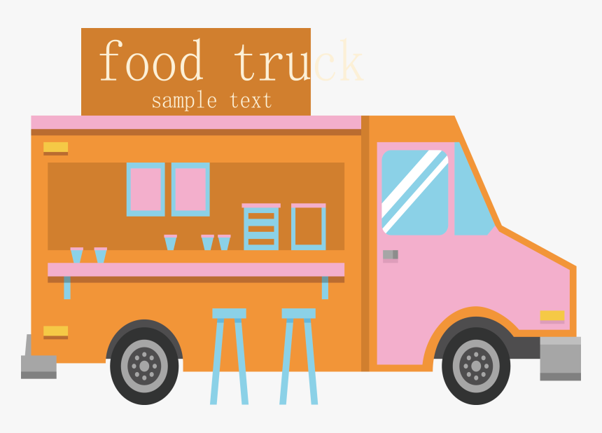 Transparent Food Truck Clipart - Food Truck Png Cartoon, Png Download, Free Download