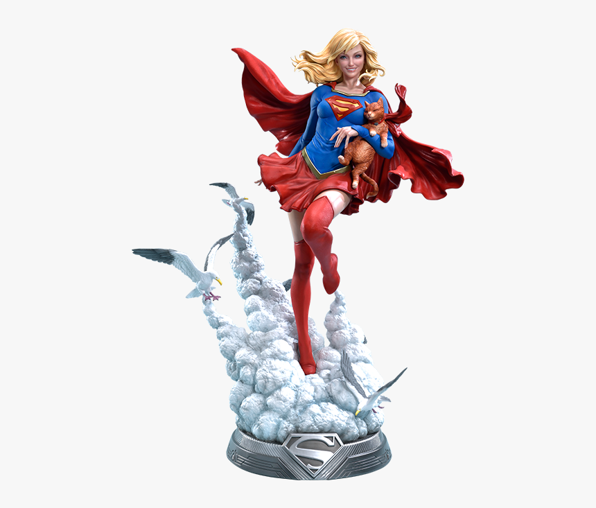 Supergirl Statue 1 8, HD Png Download, Free Download