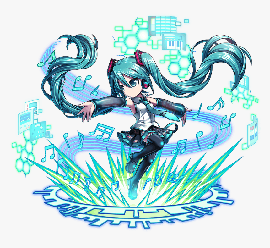 Hatsune Miku Brave Frontier, HD Png Download, Free Download