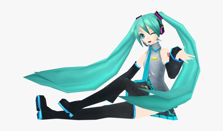 Extend Mik - Hatsune Miku Sitting Transparent, HD Png Download, Free Download